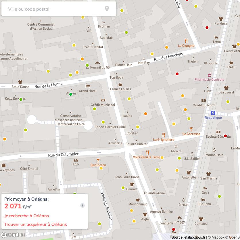 Prix de l'immobilier à Orléans